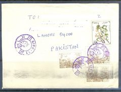 D606- Used Cover Post To Pakistan From Algeria. Plants. Tree. Flowers - Algeria (1962-...)