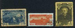 USSR 1950 Michel 1518-1520 30th Anniversary Of Armenian SSR Used - 1923-1991 USSR