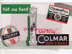 68 - COLMAR- BUVARD COLMAR PILS- BIERE ALSACE- PENDULE COMTOISE- - Liquor & Beer