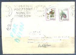 D609- Used Cover Post To Pakistan From Poland. Polska. Tree. Fruit. - Poland