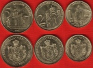 Serbia Set Of 3 Coins: 1 - 5 Dinara 2013 UNC - Serbien