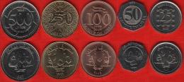 Lebanon Set Of 5 Coins: 25-500 Livres 1996-2009 UNC - Liban
