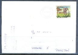 D614- Used Cover Post To Pakistan From Zambia. Animals. Elephant. - Zambia (1965-...)