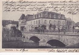 Sennheim Restauration Wintergarten   Carte  Allemande - Otros Municipios