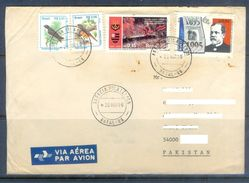D616- Used Cover Post To Pakistan From Brazil. Brasil. Bird. Tree. - Brazil