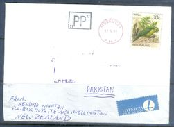 D617- Used Cover Post To Pakistan From New Zealand. Plants. Birds. - New Zealand