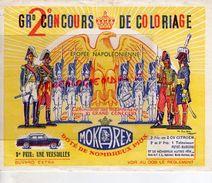93- EPINAY SUR SEINE- BUVARD GRAND 2 EME CONCOURS COLORIAGE- CAFES MOKAREX- EPOPEE NAPOLEON- VOITURE VERSAILLES CITROEN - Café & Thé