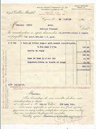 Facture , Cognac, Joseph Gallin Martel , COGNAC , 1931,  Frais Fr : 1.55 Euros - France