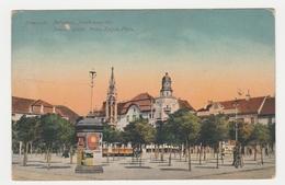 Roumanie 1919 Temesvar Belvaros Jenoherceg-tér Innere Stadt Prinz Eugen Platz PUB Omega Tram Tramway VOIR DOS - Rumania