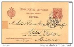 Ec018a/ SPANIEN -  Santa Cruz, Teneriffa 1894, Plattenfehler Direcccion (3 X C) - Ganzsachen
