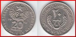 **** MAURITANIE - MAURITANIA - 20 OUGUIYA 1993-AH1414 **** EN ACHAT IMMEDIAT !!! - Mauritanie