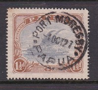 Papua SG 95a 1916-31 Lakatoi One And Half Penny Cobalt And Light Brown Used - Papouasie-Nouvelle-Guinée