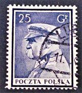 MORT DU GENERAL PILSUDSKI 1935 - OBLITERES - YT 376 - VARIETE DE TEINTE - 1919-1939 Republik