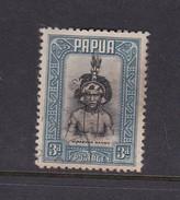Papua SG 134 1932 Definitives 3d Papuan Dandy Used - Papoea-Nieuw-Guinea