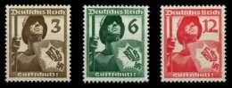 3. REICH 1937 Nr 643-645 Postfrisch X70044A - Nuevos
