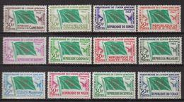 Série Anniversaire De L'Union Africaine Et Malgache 12 Timbres Neufs Sans Charnière - France (ex-colonies & Protectorats)