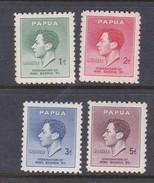 Papua SG 154-157 1937 Coronation Mint Never Hinged Set - Papua New Guinea