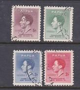 Papua SG 154-157 1937 Coronation Used Set - Papoea-Nieuw-Guinea