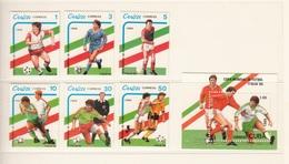 CUBA 1989 FOOTBALL SOCCER WORLD CUP ITALY ITALIA 1990 6 STAMPS MNH + BLOCK MINISHEET MNH - Cuba