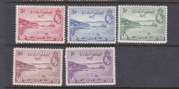 Papua SG 158-162  1938 Air 50th Anniversary Of Declaration Of British Possession, Mint Hinged Set - Papua New Guinea