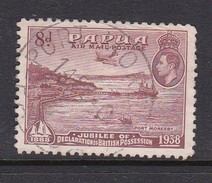 Papua SG 161  1938 Air 50th Anniversary Of Declaration Of British Possession,8d Brown-lake Used - Papua New Guinea
