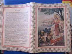 CAHIER 25 Pages - AFFICHE PLM - MENTON - 1909 - PAPETERIE BOILET BAR SUR AUBE - Transport