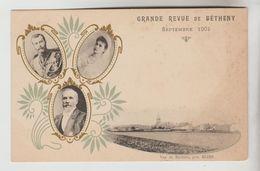 CPA BETHENY (Marne) - Grande Revue De 1901 Emile Loubet, Tsar Et Impératrice De Russie En Médaillon - Bétheny