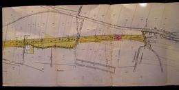 1897 PLAN PARCELLAIRE  CHEMIN DE FER > PARIS A LYON > MEDITERRANEE  COMMUNE DE St - RESTITUT ( St - Paul 3 Chateaux ) - Documents Historiques