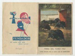PAMPLONA - Feria Del Toro SAN FERMIN 1961, GRANDES CORRIDAS DE TOROS ( 2 Scans ) - Navarra (Pamplona)