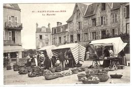SAINT PAIR SUR MER (50) - Le Marché - Ed. Phot. J. Puel - Saint Pair Sur Mer