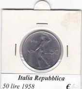 ITALIA   50 LIRE   ANNO 1958  COME DA FOTO - 50 Lire