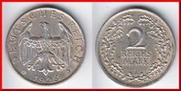**** ALLEMAGNE - GERMANY - WEIMAR REPUBLIC - 2 REICHSMARK 1926 A - ARGENT - SILVER **** EN ACHAT IMMEDIAT - [ 3] 1918-1933 : Republique De Weimar
