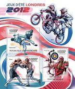 CENTRAL AFRICA 2011 - Mountain Bike, London Olympics - YT 2083-5; CV = 17 € - Mountain Bike