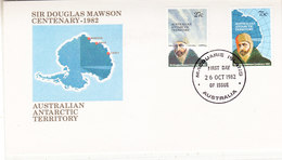 AAT 1982 Sir Douglas Mawson 2v FDC Maquarie Isld 26 Oct 1982 (36279) - FDC