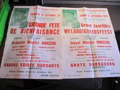 LE SOU DU VIEILLARD DE BRUXELLES - GRANDE FETE LE 13/9/70 -2affiches 1 Français Et 1 Néerlandais - Affiches