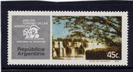 ARGENTINE, 1972, MNH  # 985   IGUACU FALS & TOURIST YEAR  EMBLEM MNH - Argentine