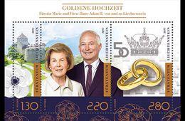 Liechtenstein - Postfris / MNH - Sheet Gouden Huwelijk Prins Hans-Adam 2017 - Ongebruikt