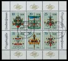 DDR BLOCK KLEINBOGEN Nr 3289KB-3294KB Gestempelt KLEINBG X73CCAE - [6] Democratic Republic