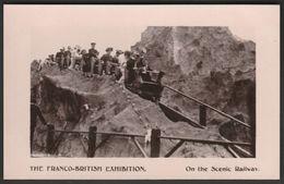 On The Scenic Railway, Franco-British Exhibition, 1908 - Davidson Bros RP Postcard - Exhibitions