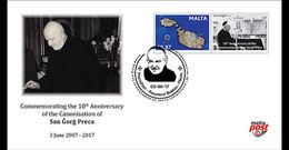Malta / Malte - Postfris / MNH - FDC Canonisation Of San Gorg Preca 2017 - Malta