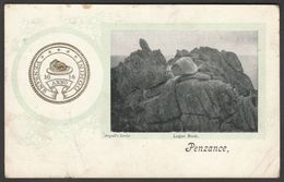 Logan Rock And Old Common Seal Of Penzance, Cornwall, 1904 - Argall Postcard - Other