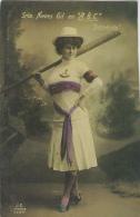 Sports - Nautisme - Femme Balandrista - Rame - Yacht - Postkaarten