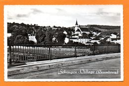 Schengen.  Panorama Du Village. Pont Sur La Moselle. Eglise Saint-Sauveur. - Remich