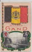 CPA.  SOUVENIR DE GAND.  1919.  (Dépliant De Petites Photos Sous Le Drapeau) - Gent