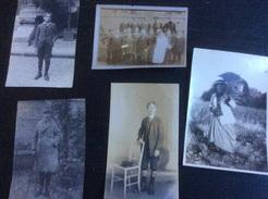 3 Photos (14 X 8,5 Cm) & 2 Photos (12 X 9 Cm) , Entre 1912 & 1914 - Anonymous Persons
