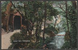 Radnor Park, Folkestone, Kent, 1913 - Valentine Postcard - Folkestone
