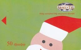 ARMENIA - Happy New Year 2,Santa Claus, ArmenTel Telecard 50 Units(matt Surface), Tirage %50000, Sample No Chip And CN - Armenien