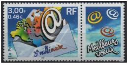 France - YT 3365 - 3ème Millénaire - Pli Avec Carte Du Monde (2000) - France