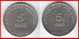 **** JETON - MONNAIE DE NECESSITE - 5 (FRANCS) 1995 COOPERATIVE MONNAIE PARIS **** EN ACHAT IMMEDIAT - Monétaires / De Nécessité