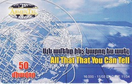 ARMENIA - Carpets 2, ArmenTel Telecard 50 Units, Tirage 16000, 11/02, Sample No Chip And No CN - Armenia